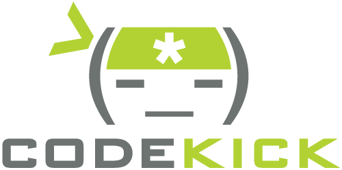 CodeKick Logo vertical
